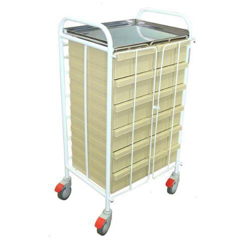 Carrinho para Transporte Distribuição de Medicamentos com Gavetas