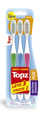 Escova Dental Topz Plus – Macia – PROMOPACK
