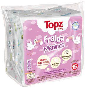 Fralda Feminino Topz Baby Pç 15 un- Estampada