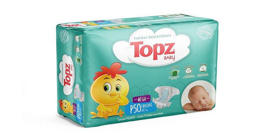 Fralda Descartável Topz Baby Mega P
