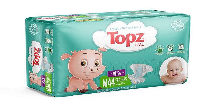 Fralda Descartável Topz Baby Mega M