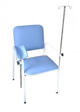 Cadeira para Coleta de Sangue c/Suporte de Soro