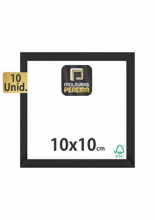 Kit 10 Molduras 10x10 cm c/ Acetato