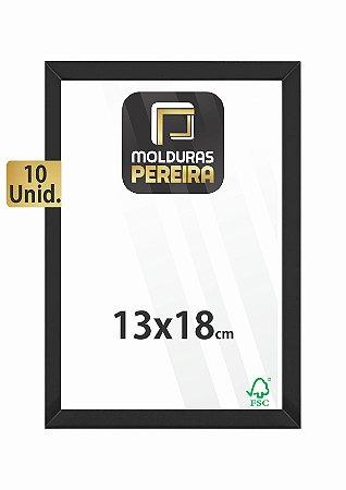 Kit 10 Molduras 13x18 cm c/ Vidro Antirreflexo
