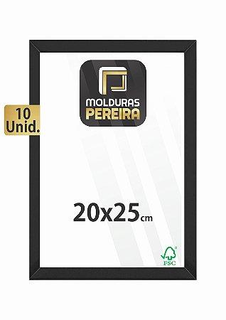 Kit 10 Molduras 20x25 cm c/ Vidro Antirreflexo
