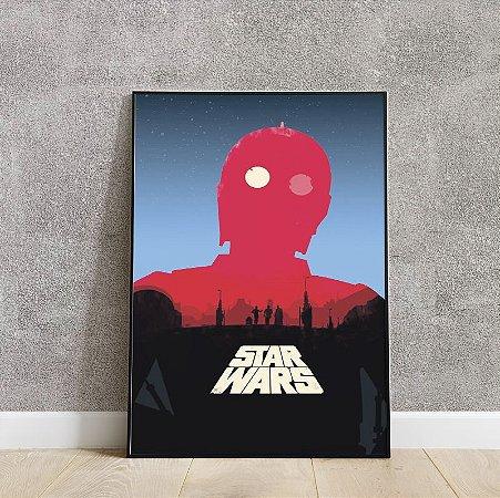 Placa decorativa do STAR WARS 2