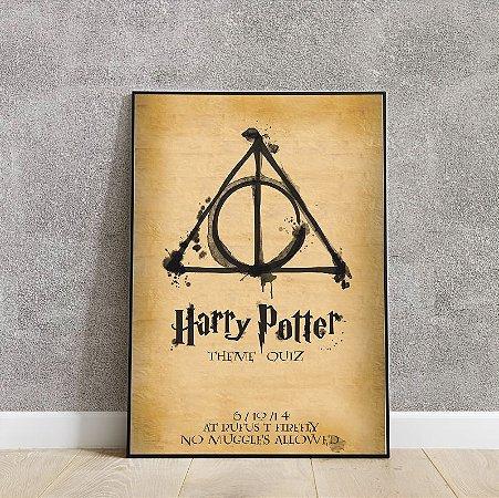 Placa decorativa harry potter