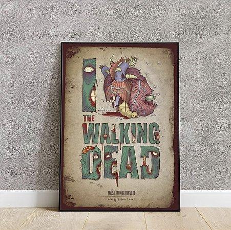 Placa decorativa The walking dead