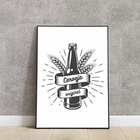 Placa decorativa cerveja original