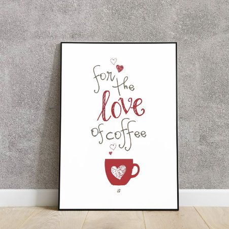 Placa decorativa for the love of coffee ☕