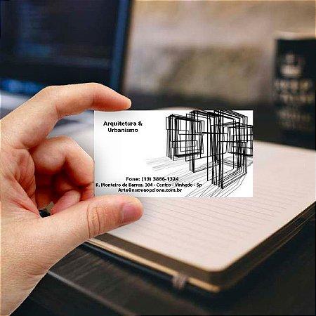 Cartão de visita para Arquiteto 8 Econômico - 1000 unidades