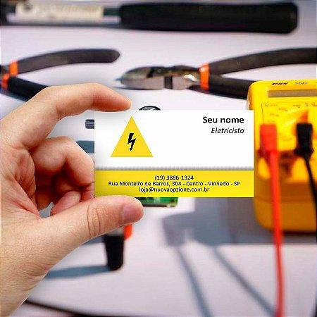 Cartão de visita para Eletricista 2 Econômico - 1000 unidades