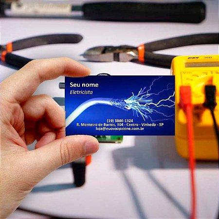 Cartão de visita para Eletricista 7 Econômico - 1000 unidades