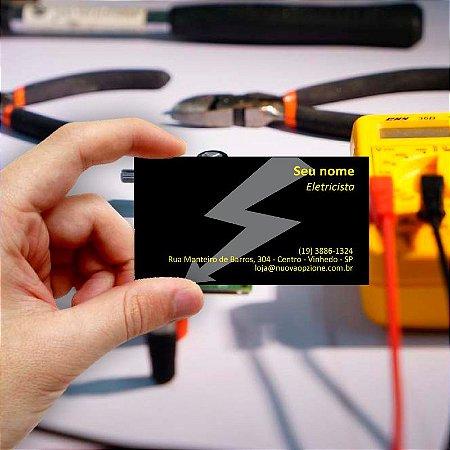 Cartão de visita para Eletricista 8 Econômico - 1000 unidades