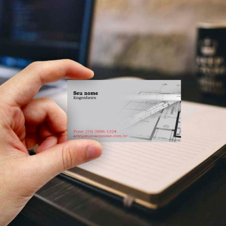 Cartão de visita para Engenheiro 2 Econômico - 1000 unidades