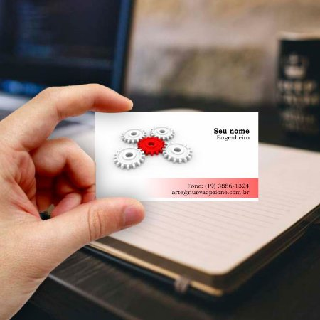 Cartão de visita para Engenheiro 4 Econômico - 1000 unidades