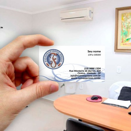 Cartão de visita para Fonoaudiologia 2 Econômico - 1000 unidades
