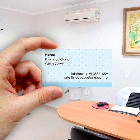 Cartão de visita para Fonoaudiologia 3 Econômico - 1000 unidades