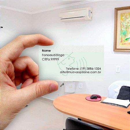 Cartão de visita para Fonoaudiologia 4 Econômico - 1000 unidades