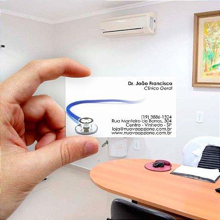 Cartão de visita para Médico 2 Econômico - 1000 unidades