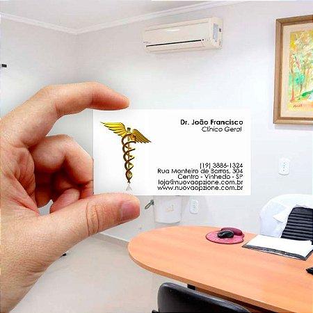 Cartão de visita para Médico 3 Econômico - 1000 unidades