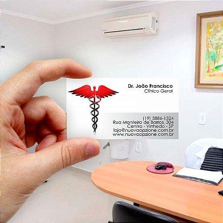 Cartão de visita para Médico 4 Econômico - 1000 unidades