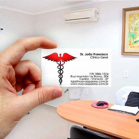 Cartão de visita para Médico 5 Econômico - 1000 unidades