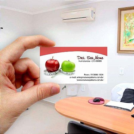 Cartão de visita para Nutricionista 6 Econômico - 1000 unidades