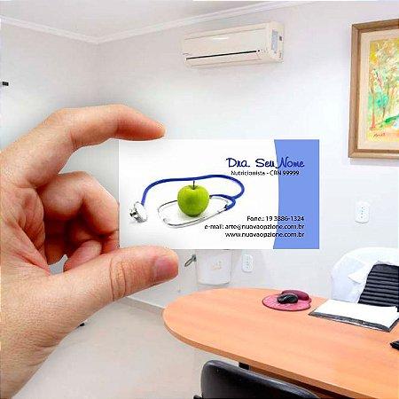 Cartão de visita para Nutricionista 7 Econômico - 1000 unidades