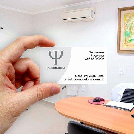 Cartão de visita para Psicologia 4 Econômico - 1000 unidades