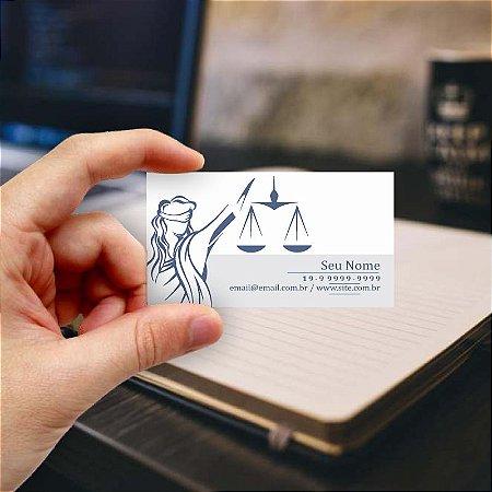 Cartão de visita para Advogado 7 - Econômico - 1000 unidades
