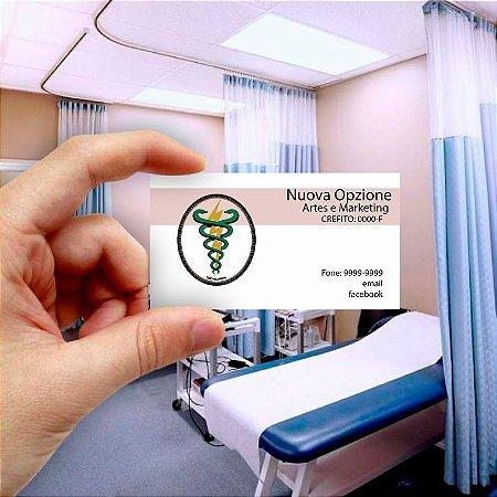 Cartão de visita para Fisioterapia 6 Econômico - 1000 unidades
