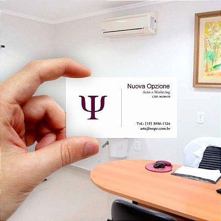 Cartão de visita para Psicologia 6 Econômico - 1000 unidades