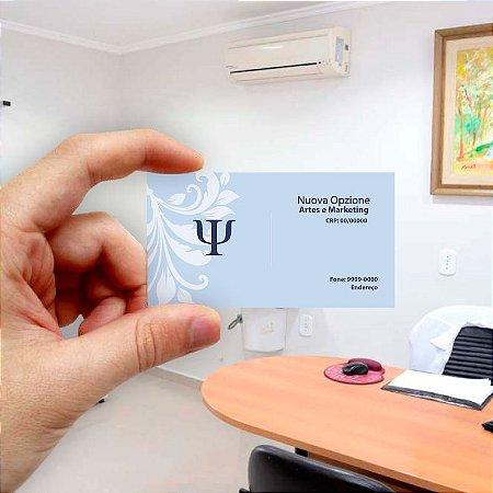 Cartão de visita para Psicologia 8 Econômico - 1000 unidades