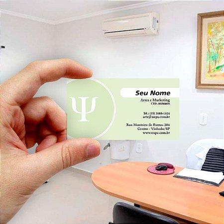 Cartão de visita para Psicologia 9 Econômico - 1000 unidades