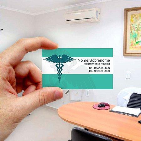 Cartão de visita para Médico 7 Econômico - 1000 unidades