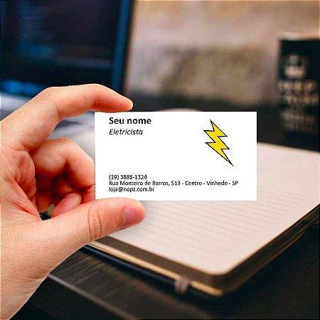Cartão de visita para Eletricista 1 Profissional