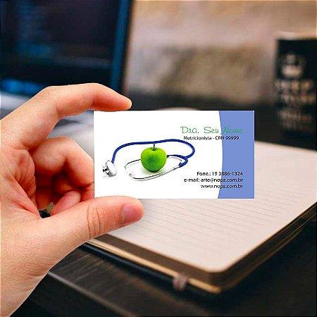 Cartão de visita para Nutricionista 1 Profissional