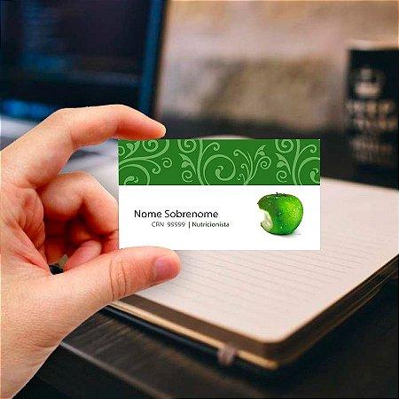 Cartão de visita para Nutricionista 10 Profissional