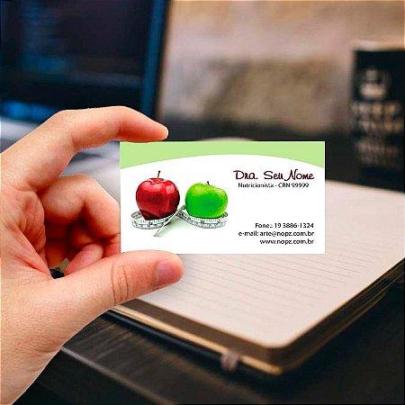 Cartão de visita para Nutricionista 17 Profissional