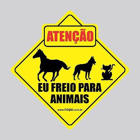 Adesivos Eu freio para animais