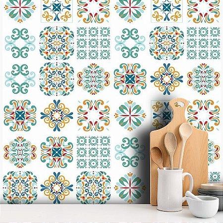 Adesivo Decorativo Azulejo - Colorido II