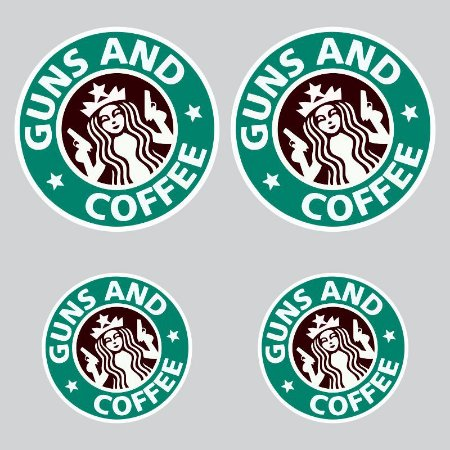 Kit Adesivos Guns and Coffee