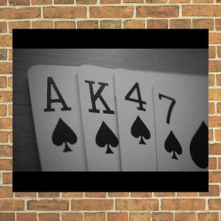 Placa decorativa Ak 47