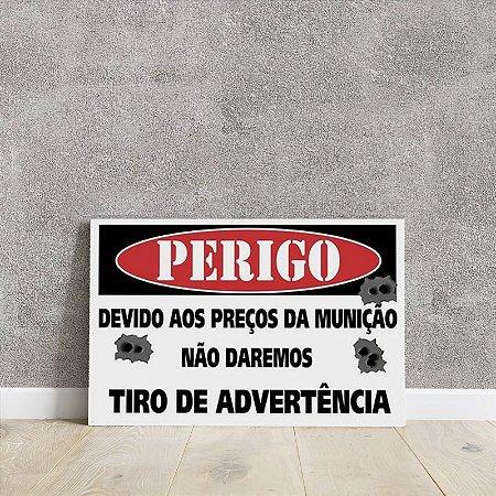 Placa decorativa Tiro de Advertência
