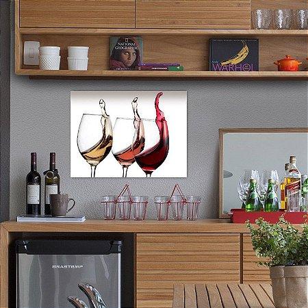 Placa decorativa Vinho