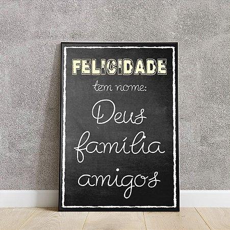 Placa decorativa Deus família amigos