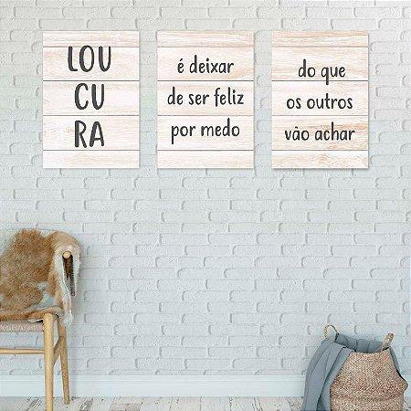 Conjunto Placas decorativas Motivacionais