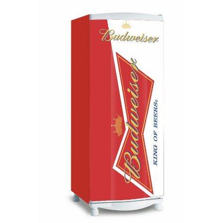 Adesivo de geladeira Budweiser