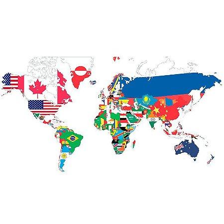 Adesivo decorativo Mapa Mundi